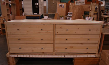 Photo: Our 3 drawer dressers can be combined to become a long 6 drawer chest dresser by incorporating a longer top panel. Sing furniture is made with a strong, lightweight torsion box veneer honeycomb core sandwich panel.