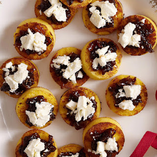 Polenta, Feta and Fig Relish Bites