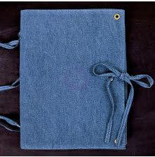 Prima Finnabair Vintage Vanity Art Journal 8X10 - Blue Denim