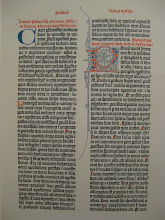 Photo: Page from a Gutenberg Bible.