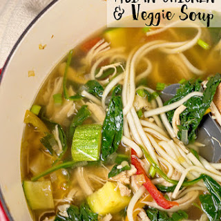 Asian Chicken and Veggie Soup.