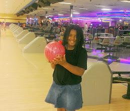 Photo: Kaleya bowling!