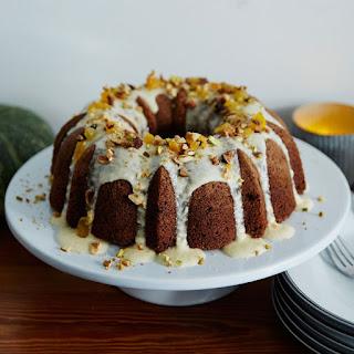 Charoset Bundt Cake with Crème Fraîche Glaze