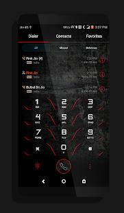Dark Red EMUI 5 Theme - náhled
