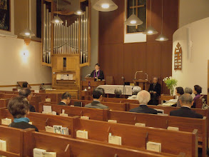 Photo: 聖歌隊の奉唱の恵みに感謝。