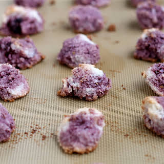 Blackberry or Raspberry Coconut Macaroons - dairy free & gluten free.
