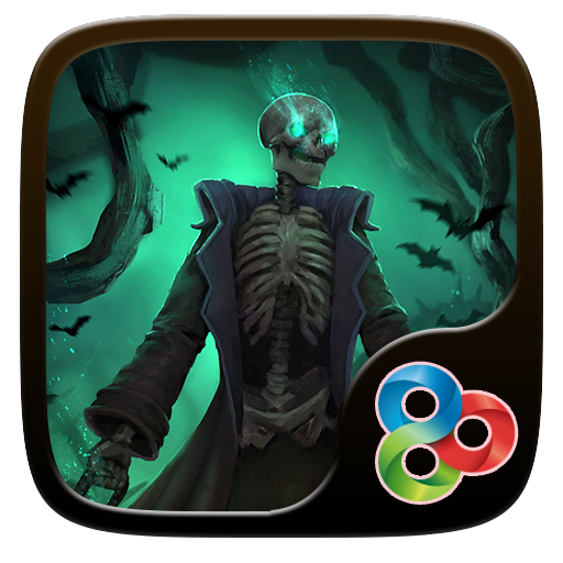 Halloween Skeleton GO Launcher 個人化 App LOGO-硬是要APP