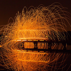 Ring on Fire by George Bloise - Abstract Fire & Fireworks