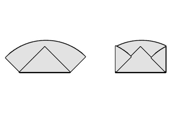 Fold in two sides to the center.