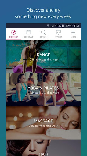 KFit - Fitness, Beauty, Spa screenshot 1
