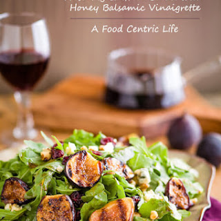 Fresh Fig and Green Salad with Honey Balsamic Vinaigrette