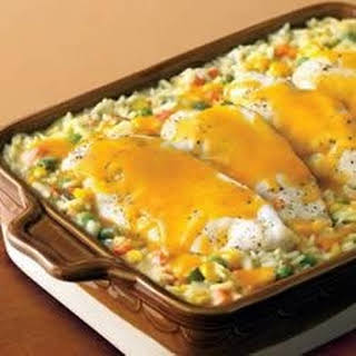 Campbell's® Cheesy Chicken and Rice Casserole.