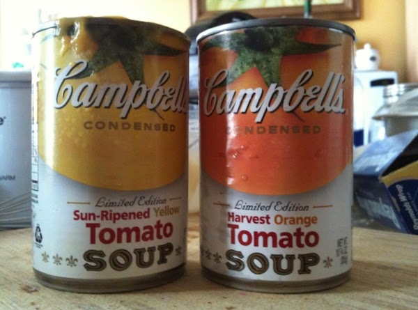 In a separate bowl i mix the 2 cans of tomato soup together with...