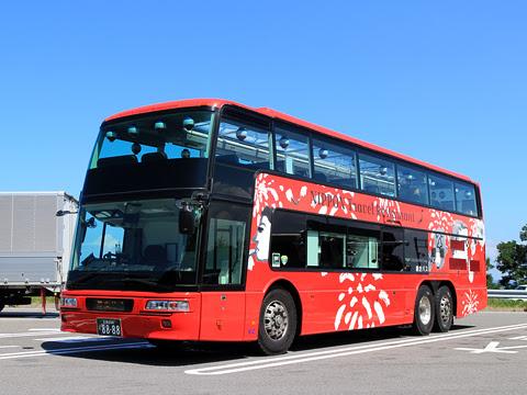 WILLER(網走バス)「レストランバス」 8888 金山PAにて(2017年)