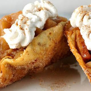 Cinnamon Apple Dessert Tacos [Vegan].