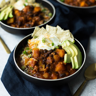 Turkey Chili with Black Beans and Butternut Squash Recipe