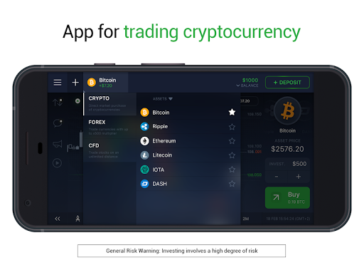 IQ Option broker: trade forex, CFD's, bitcoin app (apk) free download for Android/PC/Windows screenshot
