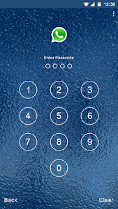 Blue Water Applock theme screenshot 1