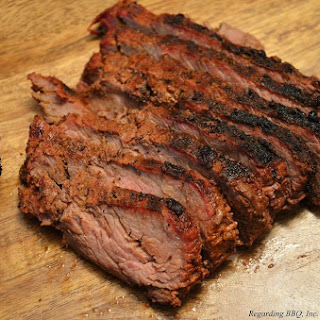 Marinated Sirloin Flap Steak.