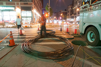 Photo: Stealth Fiber Crew down in Midtown South