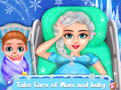 Ice Princess Pregnant Mom and Baby Care Games 1