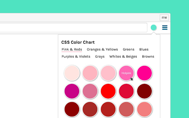 CSS Color Chart