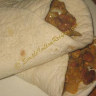 Chicken and Bean Burrito