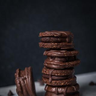 Vegan Double Chocolate Hazelnut Cookies.