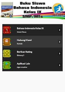 Buku Bahasa Indonesia Kelas IX untuk Siswa - náhled