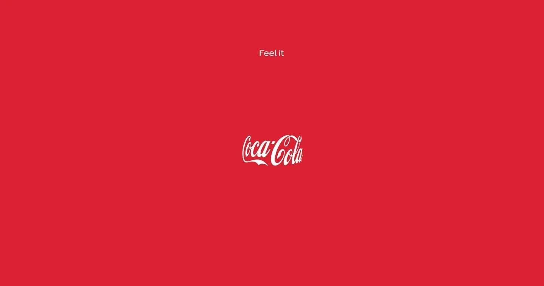 """immagine pubblicitaria della campagna """"feel it"""" di Coca-Cola"""