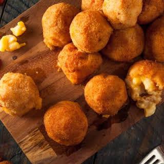 Super Cheesy Fried Mac and Cheese Balls.