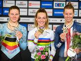 """Belgische medaillewinnaar- en winnares op WK baanwielrennen reageren: """"Vloekte even"""" en """"Schoot vol met tranen"""""""
