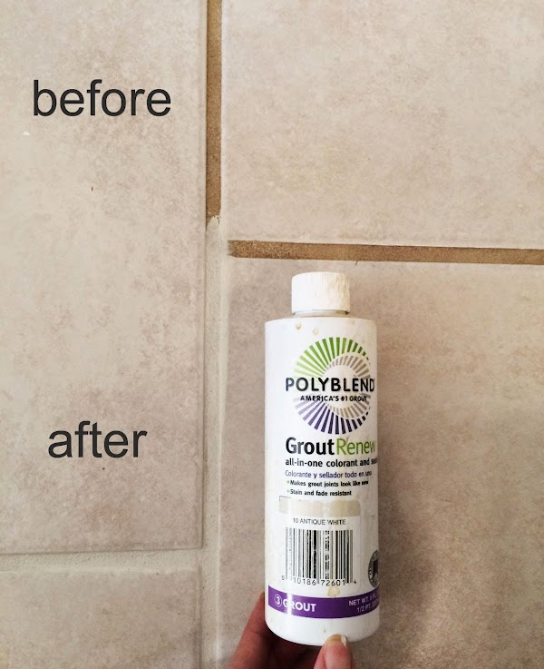 Guest bathroom makeover ana white woodworking projects for How to make grout white again