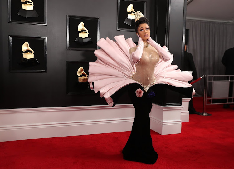 Rapper Cardi B at the 61st Grammy Awards in Los Angeles.