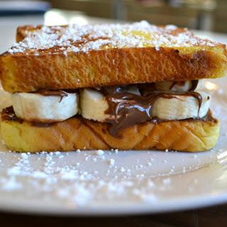 Chocolate-Hazelnut and Banana French Toast Sandwich