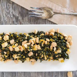 Pressure Cooker Kale with Baked Tofu.