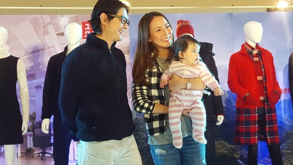 DJ/HOST ANDI MANZANO-REYES AND HUSBAND GP WITH BABY OLIVIA WILL BE VISITING TOKYO JUST IN TIME FOR THE WINTER SEASON AND THEY'VE ALREADY PREPARED ALL THEIR UNIQLO FLEECE OUTERWEAR FOR THE TRIP