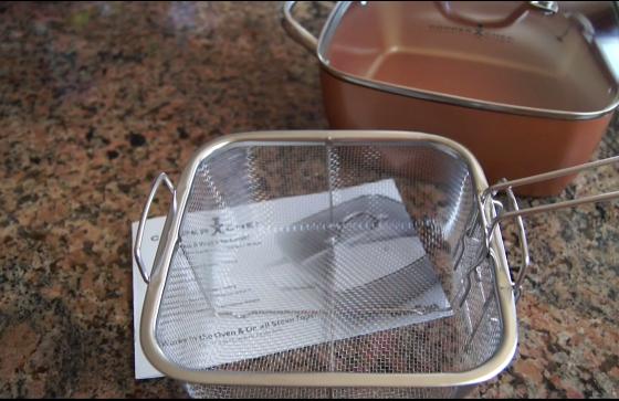 copper chef fry basket