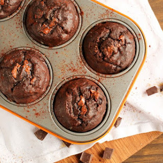 Double Chocolate Banana Bread Muffins