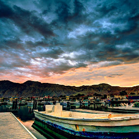 Fisherman's Village by Avi Chatterjee - Landscapes Weather ( clouds, pwcholidays, hdr, weather, sunrise, jetty )
