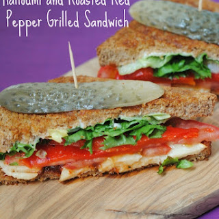 Halloumi and Roasted Red Pepper Grilled Sandwich Recipe
