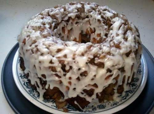 """Upside Down Cinnamon Apple Coffee Cake """"This is quick, easy and great..."""
