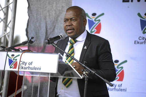 Ekurhuleni mayor Mzwandile Masina has lamented the difficulties of keeping coalition governments intact after he survived a motion of no confidence yesterday. /Gallo Images/Frennie Shivambu