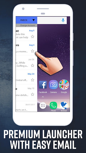 Screenshot for Email Home - Full Screen Email Widget and Launcher in United States Play Store
