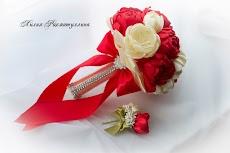 Оренбург букет для невесты из атласных лент видео 14