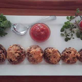 Taco Stuffed Mushrooms.