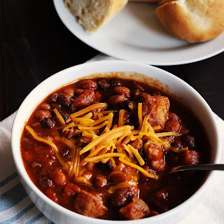 Spicy Pork Chili with Pumpkin.