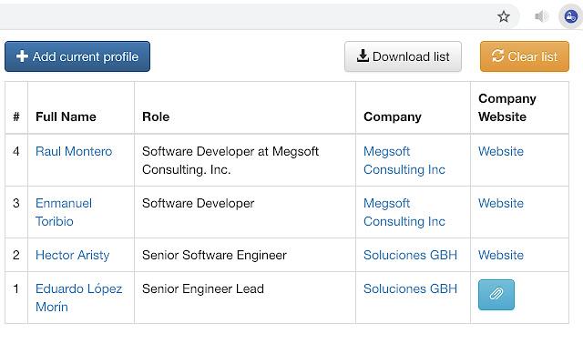 Profile parser for LinkedIn