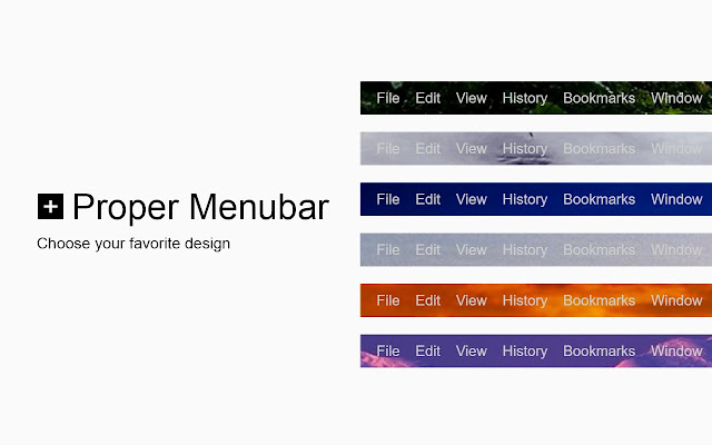 Proper Menubar for Google Chrome