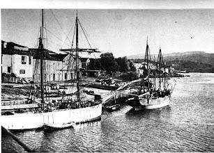 Photo: Peirao da Barca, galeóns descargando madeira para a Fábrica de Fonseca